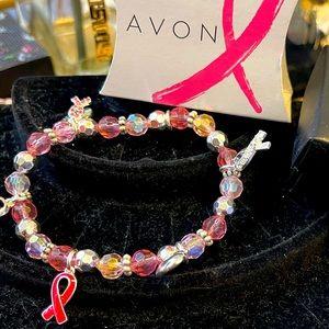 New Avon Breast Cancer Charm Bracelet has 6 Charms